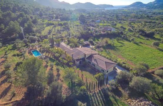 Mallorca Finca with panoramic view about the harbour of Port Andratx