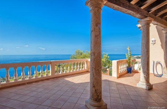 Otzoup Villa with unique sea view high over Port Andratx