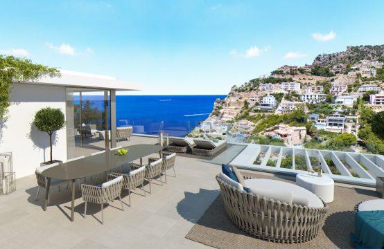 Moderne Neubau-Villa mit fantastischem Meerblick