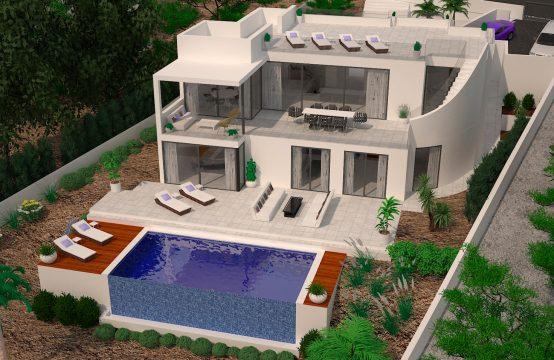 Erstbezug, moderne Villa mit Meerblick in Santa Ponsa