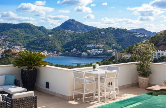 Penthouse mit Dachterrasse und private Pool in Port Andratx