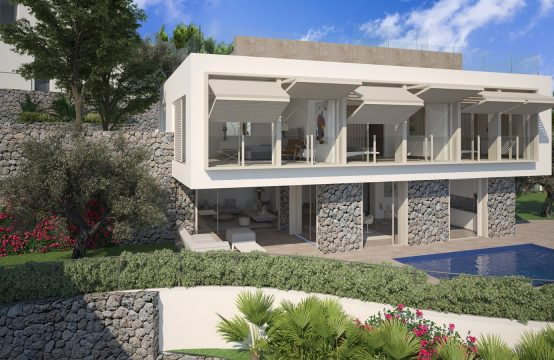 Puerto Andratx: Villa de lujo independiente en un lugar expuesto